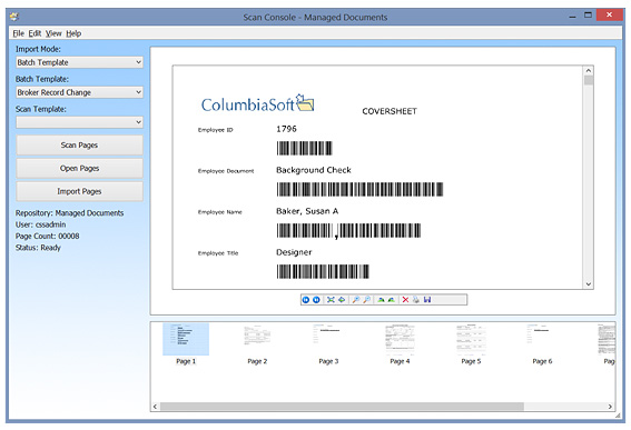 document scanning screenshot