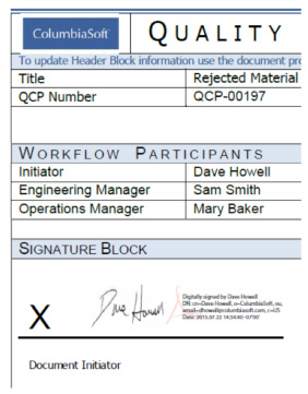 digital signatures screenshot