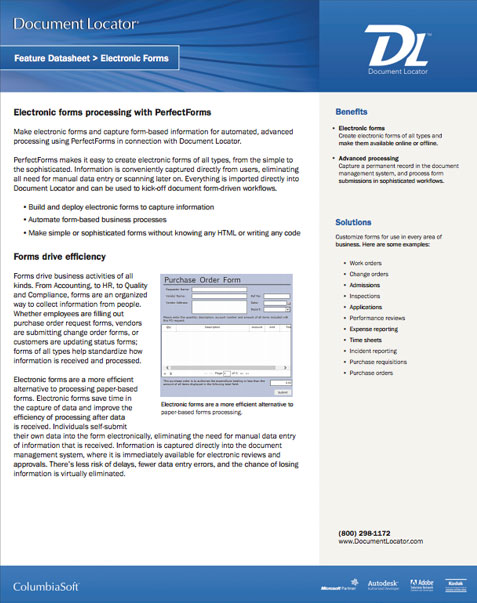 Electronic Forms Processing Software