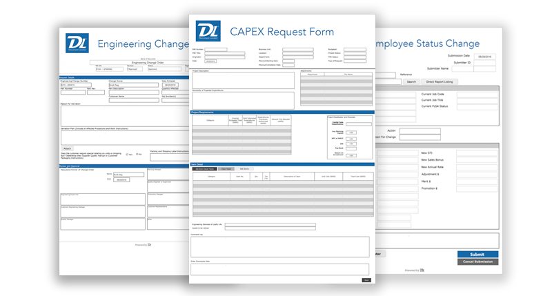 Create custom electronic forms with company branding – Document Locator